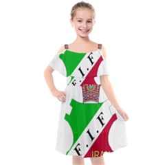 Iran Football Federation Pre 1979 Kids  Cut Out Shoulders Chiffon Dress by abbeyz71