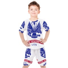 Flag Of United States Department Of Army  Kids  Tee And Shorts Set by abbeyz71