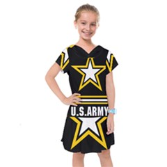 Logo Of United States Army Kids  Drop Waist Dress by abbeyz71
