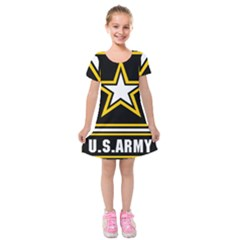 Logo Of United States Army Kids  Short Sleeve Velvet Dress by abbeyz71