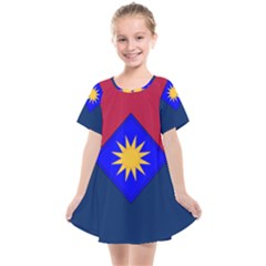 Flag Of United States Army 40th Infantry Division Kids  Smock Dress by abbeyz71