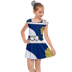 Coat Of Arms Of United States Army 143rd Infantry Regiment Kids  Cap Sleeve Dress by abbeyz71