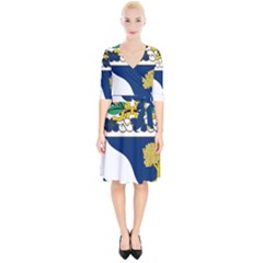 Coat Of Arms Of United States Army 143rd Infantry Regiment Wrap Up Cocktail Dress