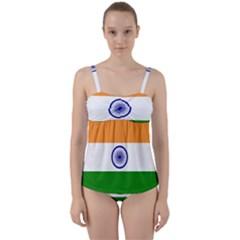 Flag Of India Twist Front Tankini Set by abbeyz71