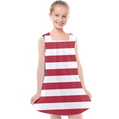Flag Of The United States Of America  Kids  Cross Back Dress by abbeyz71