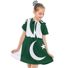 Flag Of Pakistan Kids  Short Sleeve Shirt Dress by abbeyz71