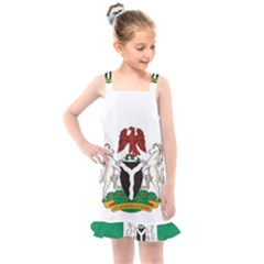 Flag Of Nigeria  Kids  Overall Dress by abbeyz71