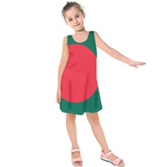 Flag Of Bangladesh Kids  Sleeveless Dress by abbeyz71