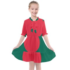Flag Of Bangladesh Kids  All Frills Chiffon Dress by abbeyz71