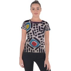 Edm By Traci K Short Sleeve Sports Top  by tracikcollection