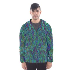 Essence Of A Peacock Men s Hooded Windbreaker by bloomingvinedesign