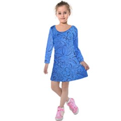 Fashion Week Runway Exclusive Design By Traci K Kids  Long Sleeve Velvet Dress by tracikcollection