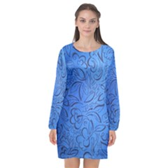 Fashion Week Runway Exclusive Design By Traci K Long Sleeve Chiffon Shift Dress  by tracikcollection