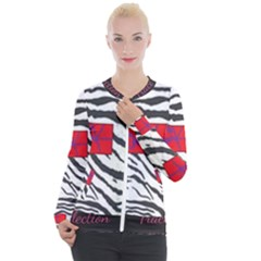 Striped By Traci K Casual Zip Up Jacket by tracikcollection