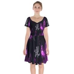 Fushion By Traci K Short Sleeve Bardot Dress