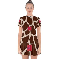 Giraffe By Traci K Drop Hem Mini Chiffon Dress by tracikcollection