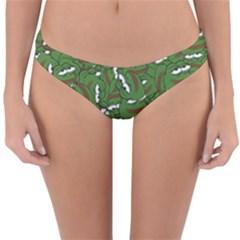 Pepe The Frog Face Pattern Green Kekistan Meme Reversible Hipster Bikini Bottoms by snek