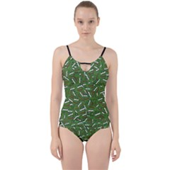 Pepe The Frog Face Pattern Green Kekistan Meme Cut Out Top Tankini Set by snek