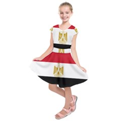 Flag Of Egypt Kids  Short Sleeve Dress by abbeyz71