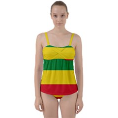 Flag Of Ethiopia Twist Front Tankini Set by abbeyz71