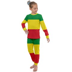 Flag Of Ethiopia Kids  Long Sleeve Set  by abbeyz71