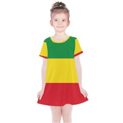 Flag Of Ethiopia Kids  Simple Cotton Dress by abbeyz71