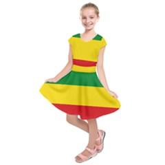 Flag Of Ethiopia Kids  Short Sleeve Dress by abbeyz71