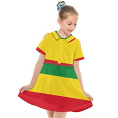 Flag Of Ethiopia Kids  Short Sleeve Shirt Dress by abbeyz71