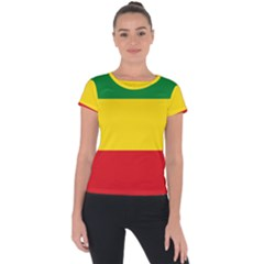 Flag Of Ethiopia Short Sleeve Sports Top  by abbeyz71