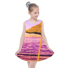 Pop Art Beach Umbrella  Kids  Summer Dress by essentialimage