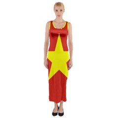 Flag Of Vietnam Fitted Maxi Dress by abbeyz71