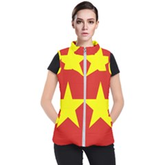 Flag Of Vietnam Women s Puffer Vest by abbeyz71