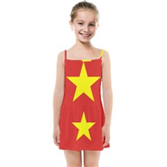 Flag Of Vietnam Kids  Summer Sun Dress by abbeyz71