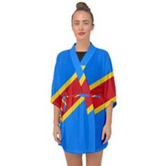 Flag Of The Democratic Republic Of The Congo Half Sleeve Chiffon Kimono by abbeyz71