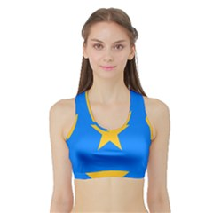 Flag Of The Democratic Republic Of The Congo, 2003-2006 Sports Bra With Border by abbeyz71