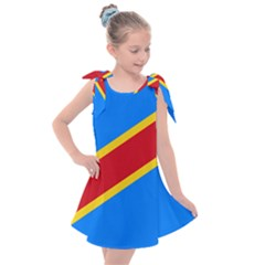 Flag Of The Democratic Republic Of The Congo, 1997 2003 Kids  Tie Up Tunic Dress by abbeyz71