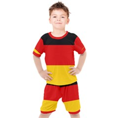 Flag Of Germany Kids  Tee And Shorts Set by abbeyz71