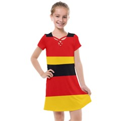 Flag Of Germany Kids  Cross Web Dress by abbeyz71
