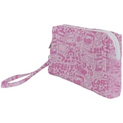 Coffee Pink Wristlet Pouch Bag (small) by Amoreluxe