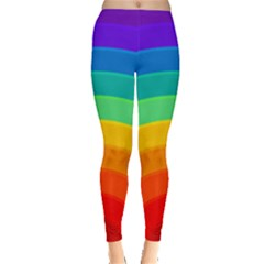 Rainbow Background Colorful Leggings