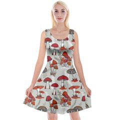 Mushroom Gray Reversible Velvet Sleeveless Dress by trulycreative