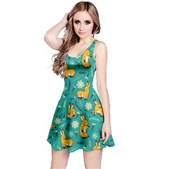 Cute Cartoon Bunny Pine Reversible Sleeveless Dress by trulycreative