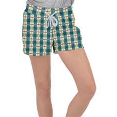 Pattern Texture Plaid Grey Women s Velour Lounge Shorts by Mariart