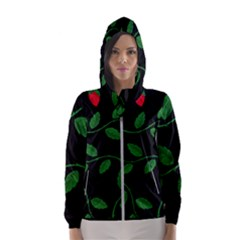 Roses Flowers Spring Flower Nature Women s Hooded Windbreaker