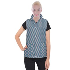 Art Chevron Women s Button Up Vest