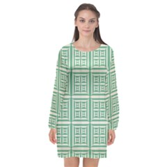 Background Digital Texture Long Sleeve Chiffon Shift Dress  by HermanTelo
