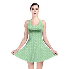 Background Polka Green Reversible Skater Dress