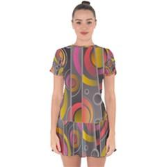Abstract Colorful Background Grey Drop Hem Mini Chiffon Dress by HermanTelo