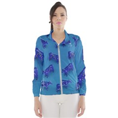 Cow Illustration Blue Women s Windbreaker by HermanTelo