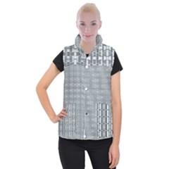 Pattern Shapes Women s Button Up Vest